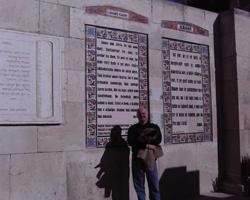 Lovari nyelvű imatábla