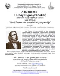 Liszt koncert meghívó